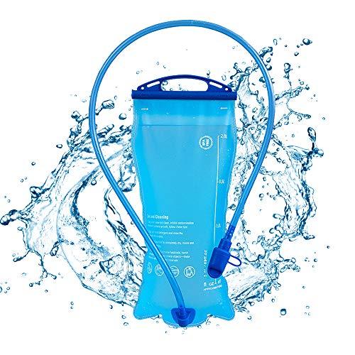 IWILCS 2L vejiga de hidratación, Bolsa de Hidratación Tanque de Agua a Prueba de Polvo y Antimicrobiano con válvula de mordida Paquete de hidratación sin BPA para Senderismo Ciclismo