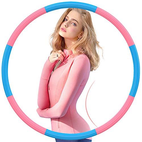 Gkodeamig Fitness Erwachsene Reifen Hoop, Fitness Exercise Hoop mit Premium Schaumstoff eingewickelte Edelstahlkern, Reifen zum abnehmen, Bauchmuskeltraining Hause, Fitness Exercise Reifen 1,2 Kg