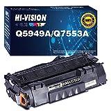 HI-Vision 1-Pack Compatible 49A 53A Toner Cartridge Replacement for HP Q5949A Q7553A P2015dn P2015 P2015d 1320 1320n 3390 3392 1160 M2727nf P2014 P2010 Printer