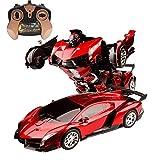 PETRLOY One Button Transforming RC Auto-Modell mit Ton und Licht 1.14 High Speed verformter...