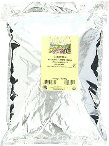 Starwest Botanicals Organic Chamomile Flowers (Croatia), 1-Pound Bag
