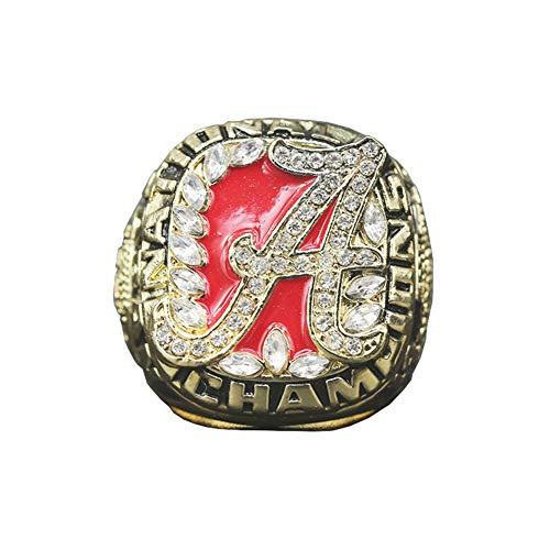 Fei Fei 2009 NCAA Alabama Championship Ring Anillos de Hombre, Championship Anillo de réplica Personalizado Anillos de Diamantes para Hombres,Without Box,11#