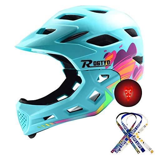 RTGE Bicicleta para Niños Casco Integral Niños Deportes Protector De Cabeza Seguridad...