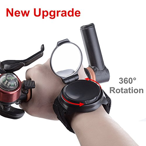Cycling Rear View Mirror Rotatable Adjustable Mountain Road Bicycle Cycling Wrist Band Rear View Mirror Safe Rearview Mirror