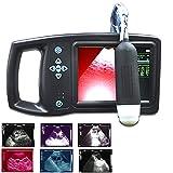 LMEILI De Mano Escáner De Ultrasonido Máquina, Veterinaria B-Ecografía del Embarazo Tester, 3,5 MHz Dispositivo Mecánico Ventilador De Escaneado En Color De Diagnóstico, Utilizados para La Inspección