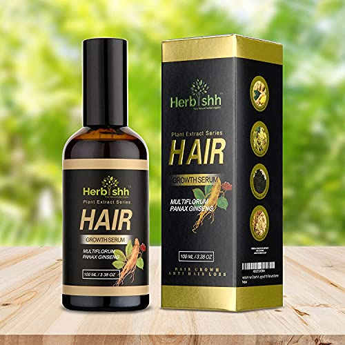 Herbishh Hair Growth Vitalizer Serum, Anti Hair Loss, Thinning, Repairs Hair Follicles, Promotes Thicker, Stronger Hair, And Promotes Hair Regrowth for Men and Women