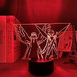3D Night Lights for Girls Boys acrílico 3D LED Luz nocturna Anime Sword Art Online Figura para dormitorio Decoración Nightlight Birthday Pizarra Room Lámpara Manga Sao HYKK