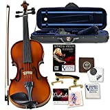 Bunnel G1 Violin Clearance Outfit 4/4 Full Size - Carrying Case and Accessories Included - Highest Quality Solid Maple Wood and Ebony Fittings By Kennedy Violins