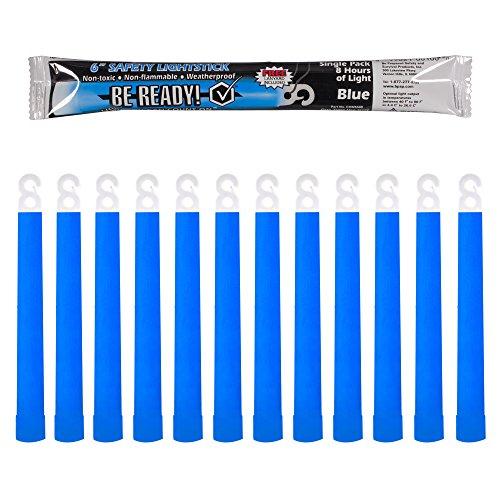 Be Ready Blue Glow Sticks - Industrial Grade 8+ Hours Illumination Emergency Safety Chemical Light Glow Sticks