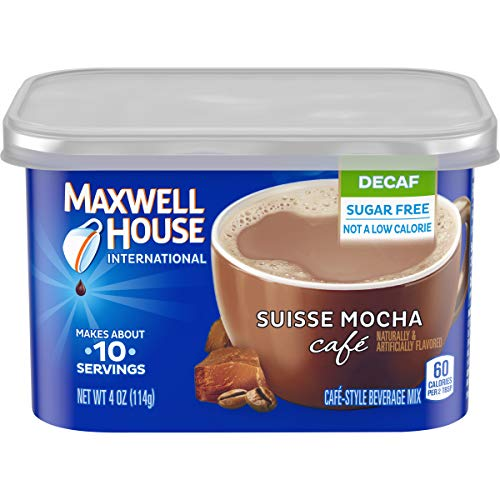 Maxwell House International Decaf Suisse Mocha Café Beverage Mix (4 oz Canisters, Pack of 8)