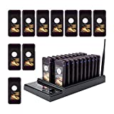 Retekess T112 Queue Wireless Calling System,Max 999 Social Distancing Pager,Restaurant Beeper,30 Coaster Pagers for Food Truck,Church,Hospital