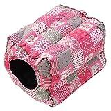 Getrichar Hamster House Bed Guinea Pig Cozy Warm Hamaca colgante cama casa jaula...