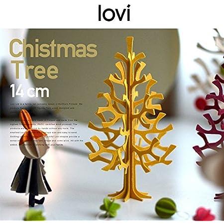 【lovi/ロヴィ】momi-no-ki ミニクリスマスツリー 14cm (ブライトレッド)