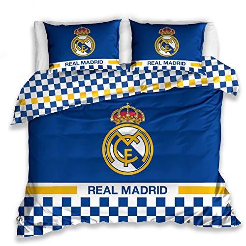 Carbotex Real Madrid - Juego de cama (220 x 200 + 2 x 70 x 80 cm)