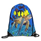 Hicyyu Drawstring Backpack Gym Bag Travel Backpack Turtle Beautiful Small Fish Small Drawstring...
