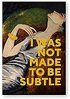 フェミニストアートは壁の芸術のキャンバスの絵画の絵の油絵のポスターを引用し、彼女の女の子の部屋の家の装飾のためのフェミニストの贈り物を印刷します40X60Cmフレームなし