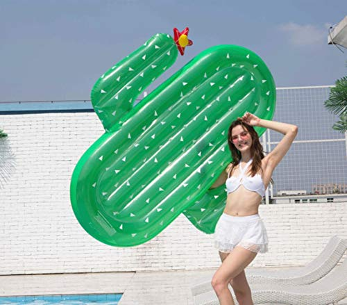 HLSX - Flotador de cactus inflable para piscina para adultos