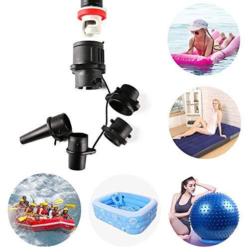 Kanu Kajak Pumpe Ventil Adapter SUP Standup Paddle Board Luft Ventil Luft Kompressor Adapter Zubehö,Aufblasbares Boot, Konventionelle Luftpumpe, Luftventil-Adapter