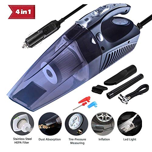 Buy Bargain 4 in 1 Multifunctional High Power 12V 120W Car Vacuum Cleaner Air Compressor Tire Inflat...