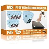 Set de videovigilancia con 8 cámaras de vigilancia PoE para exteriores, sin disco duro