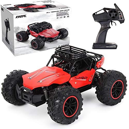 The perseids Coche de control remoto, 1:18 Off-road Speed Rc, 2.4G Control remoto inalámbrico coche eléctrico juguete regalo para niños y adultos (rojo)