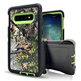 Samsung Galaxy S10e Case,Vodico Heavy Duty Protection Camo Defender Non Slip Secure Grip Shockproof High Impact Resistant TPU Cushion Frame Cover with Belt Clip Holster&Kickstand (Forest Green)