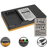 2 Batteries + Double Chargeur (USB) pour Nikon en-EL5 / Coolpix P500, P510, P520, P530, P5000, P5100, P6000. v. liste - Cable Micro-USB Inclus