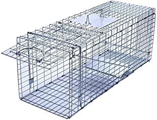 Trapro Large Collapsible Humane Live Animal Cage Trap for Raccoon, Opossum, Stray Cat, Rabbit, Groundhog and Armadillo - 32