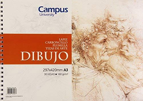 Campus University HSSK-A3 - Bloc dibujo, A3