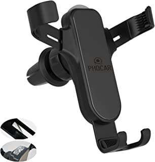 PHOCAR Car Phone Holder with Emergency Escape Tool Window Breaker Seat Belt Cutter, Cell Phone Mount for Car Air Vent Moun...