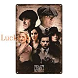 N/C British High Score Crime Drama Poster Whiskey Vintage Tin Sign Retro Metal Sign Shabby Chic Wall Decor 20x30cm SW572