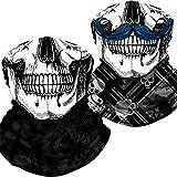 Neck Gaiter Skull Face Mask Bandana Shield for Dust Wind UV Sun Protection Motorcycle Half Face Rave Mask for Men Women