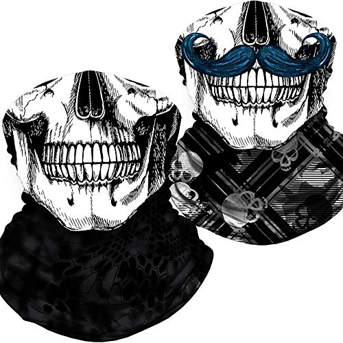 Skull Face Mask Bandana, Motorcycle…