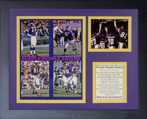 Legends Never Die Purple People Eaters Mosaic Framed Photo Collage, 11x14-Inch by Legends Never Die