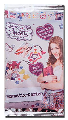 Disney's Violetta Kosmetix-Karten - Mini Make Up-Set Lipgloss oder Lidschatten