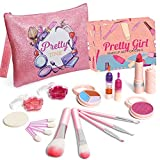 Nurfens Makeup Toys for Girls,Cosmetic Beauty Set for Kids Washable Cosmetics Safe & Non-Toxic,Kids Makeup Kit for Party Game Halloween Christmas Birthday