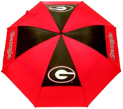 Team Golf NCAA 157,5 cm Golf-Regenschirm mit Schutzhülle, doppelter Baldachin, Windschutz, automatischer Öffnungsknopf, Unisex-Erwachsene, Georgia Bulldogs, Einheitsgröße