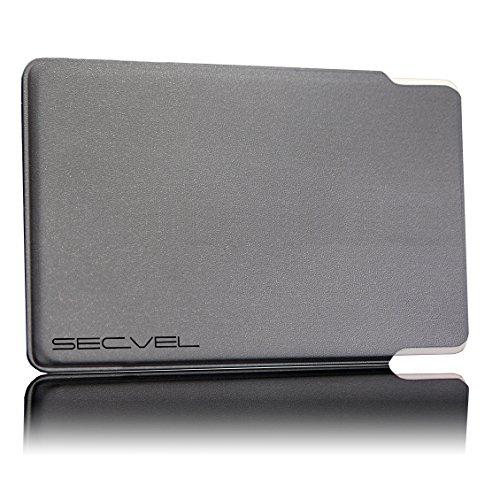 TÜV geprüfte und patentierte Schutzhülle 5-Fach Kartenschutz - Silber   RFID NFC Blocker   Magnetfeld Abschirmung   Störsender für Kreditkarte, EC Karte, Personalausweis   100% Aktiv Schutz