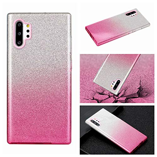 Nadoli für Huawei P30 Pro Gradient Glitzer Hülle,3 Schicht Glänzende Stoßfest Silikon Stoßdämpfung Transparent Hart Hybride Dünn Glitzer Schutzhülle Handyhülle