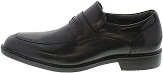 [テクシーリュクス] texcy luxe 防水 ビジネスシューズ 防滑 メンズ スリッポン ローファー 革靴 本革 レザー Uチップ 紳士靴 【TU-7789】 黒 ブラック 28.0cm