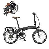 Fischer E-Bike Klapprad / Faltrad FR18, graphitschwarz matt, 20 Zoll, Bafang Hinterradmotor 25 Nm,...