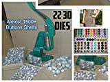 Tclpvc Stock Clear Deal Fabric Heavy Button Maker Making Machine Kit + Imported Dies 2 Dies (22/30 No) + 2000 Shells + Demo Cd Code 114