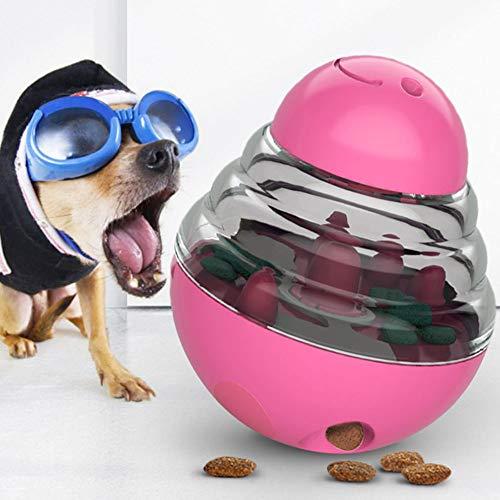 Hondenspeelgoed Interactieve dispenser voor honden en kattenvoer De grootte van de kogelopening kan worden aangepast om de eetlust te vergroten en is gemakkelijk schoon te maken