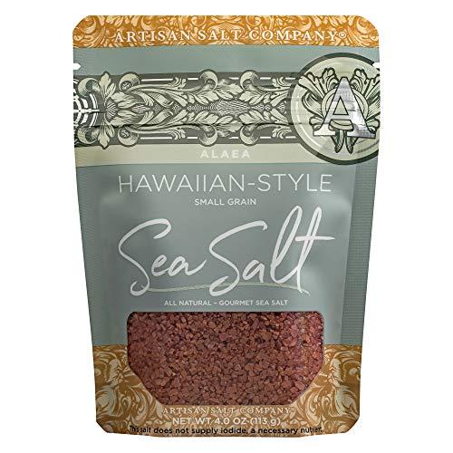 SaltWorks Alaea Red Hawaiian-style Sea Salt, Coarse, Artisan Zip-Top Pouch, 4 Ounce