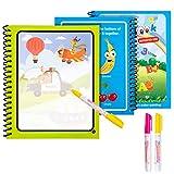 Diealles Shine Magic Water Drawing Book Colores Magicos con Agua con Magic Pen Tablero de Pintura niños pequeños...
