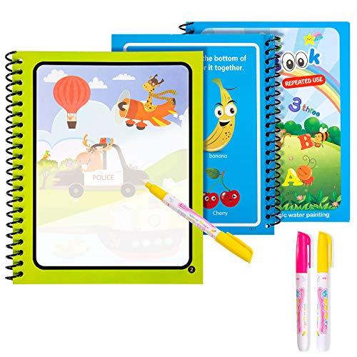 Diealles Shine 3 Magic Water Book, Acqua Libro da colorare Magico con Magic Pen Painting Board per Bambini Istruzione Drawing Toy