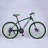 YXWJ 21 velocità 24 velocità 27 velocità Mountain Bike Biciclette 24' 26' Wheel Mountain Bike Lega di Alluminio for Uomo Donna City Bike Lavoro Viaggio (Color : 24 Inches, Dimensione : 21 Speed)