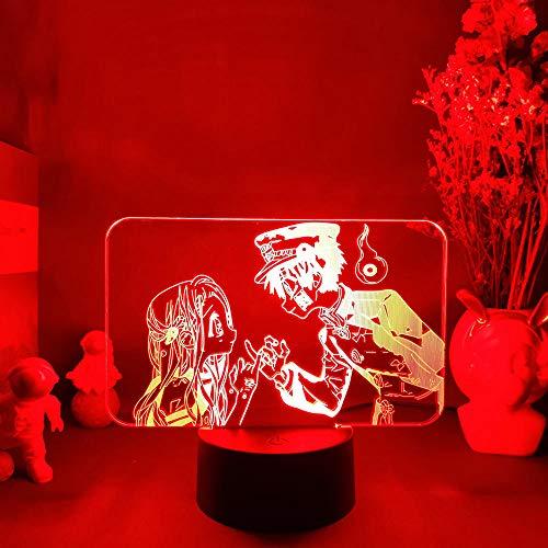 Luz nocturna Anime Anime WC Hanako Kun lámpara de figura para dormitorio escritorio decoración LED lámpara de mesa de regalo Otaku 7 colores Touch MDJK