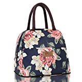 HOMESPON Insulated Lunch Bag Cool Bag for Lunch Boxes Striated Waterproof Fabric Foldable