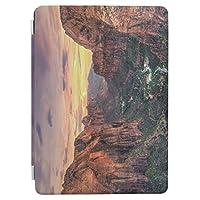 RECASO iPad Air2 エア2(A1566, A1567)用 スマートカバー ケース アイパッド エア 2 ケース iPad 三つ折り保護カバー TPUケース ソフトケース 渓谷 国立公園
